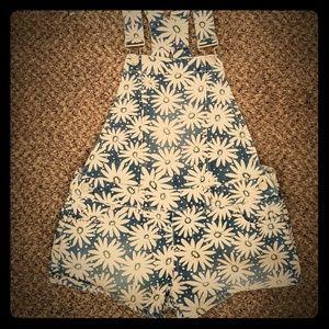 NWOT Harmony & Havoc Sunflower Short Overalls🌻